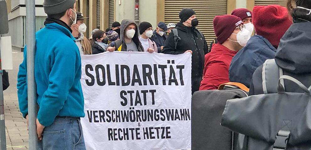 Demonstration gegen Antisemitismus und rechter Hetze