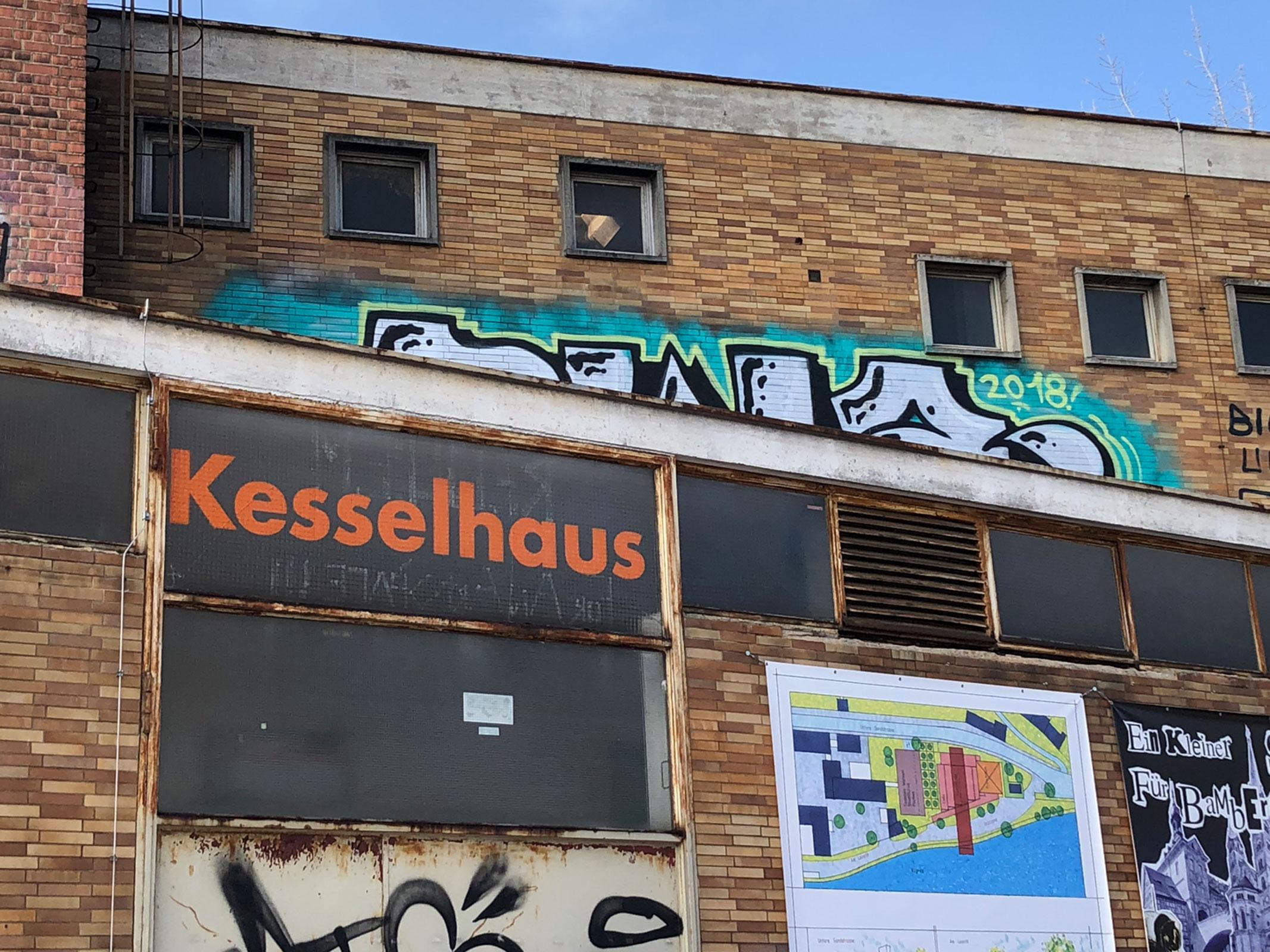 Außenansicht des Kesselhauses in Bamberg